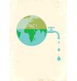 Earht water vector image vector image