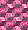 Abstract seamless background with 3d pink cubes vector image