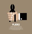 Pliers In Hand vector image
