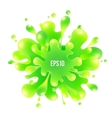 Green paint splash isolated on white background vector image vector image