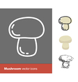 mushrooms icons vector image vector image