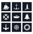 Set of Marine Icons vector image