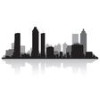 Atlanta USA city skyline silhouette vector image