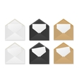 Blank paper envelopes with sheets vector image