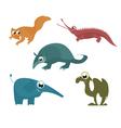 cartoon funny animals 8 vector image