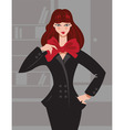 fashion girl in office vector image