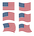 Flag of USA Set of flags of America in various vector image