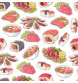 japanese cuisine dishes on white background vector image