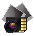 Memory card for photo vector image