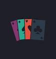 Poker Cards computer symbol vector image