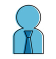 user silhouette with tie avatar vector image