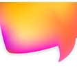 Bubble for speech pink and orange EPS8 vector image