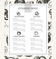 Vitaminic column menu - modern hand drawn vector image