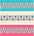 Set of seamless patterned borders in retro colors vector image vector image