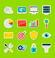 business analytics stickers vector image vector image
