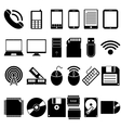 Set of Mobile and Computer Devices Icons vector image