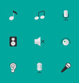 set of simple sound icons vector image