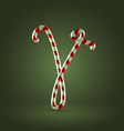 Candy cane abc v vector