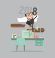 2018 year of success vector image