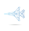 Airplane abstract isolated vector image