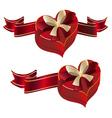 Heart Shaped Box with Ribbon vector image