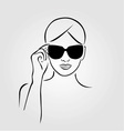 girl wearing sunglasses vector image vector image