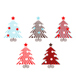 Retro trees collection vector image