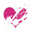 pink grungy heart vector image