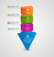 Abstract 3d arrow infographic design concept vector image