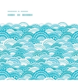 abstract blue waves horizontal frame seamless vector image
