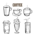 Coffee Handdrawn Set vector image