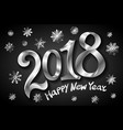 happy new year 2018 greeting card design template vector image
