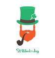 happy saint patricks day card with face irishman vector image