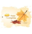 Orange Pumpkins and Autumn Leaves vector image