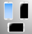 Realistic of a white smart phone vector image