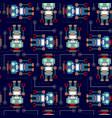 seamless pattern robot vector image