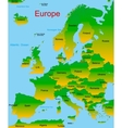 map of european continent vector image vector image