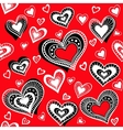 Pattern Hearts 2 vector image vector image