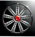 expensive silver diamond wheel p2 vector image