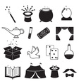 Magic Related Icons Set vector image