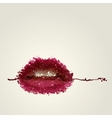 Juicy female lips of blots vector image