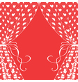 curtains with hearts vector image vector image