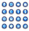 financial icons set vector image vector image