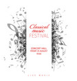 classical music concert poster template vector image