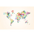 abstract triangle world map concept vector image vector image