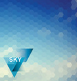 Abstract blue sky geometrical background vector image