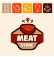 meat store logo vector image vector image