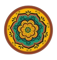 Beautiful round ornament vector image