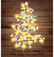 Christmas tree made of christmas lights vector image vector image