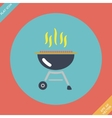 Barbecue grill icon - Flat vector image
